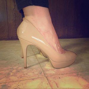 Steve Madden Patent Nude Heels (9)